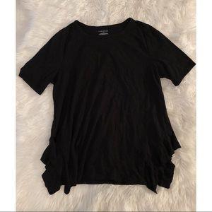 Lane Bryant | Tee Shirt with Ruffled Slit Sides